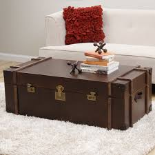 wooden trunk furniture vintage wooden trunk coffee table design with white