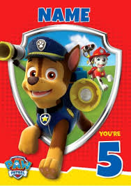 paw patrol 5th birthday funky pigeon