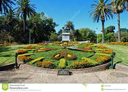 Melb Botanical Gardens by Melbourne Gardens And Floral Clock Royalty Free Stock Image