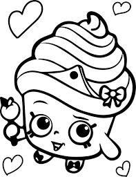 shopkins cupcake queen coloring wecoloringpage