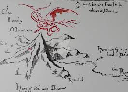 The Hobbit Map Hobbit U0027s Map Lonely Mountains By Cassiopeeh On Deviantart