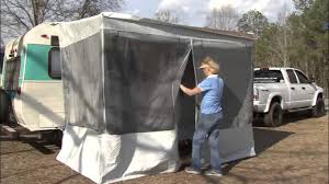 Awning For Tent Trailer Trim Line Screen Room For Pop Ups By Dometic Youtube
