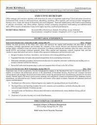 Resume Resume Samples For Secretary by Resume For Secretary Haadyaooverbayresort Com