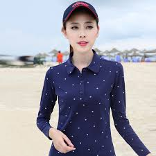 womens poloshirt floral print plus size polo shirts women 2017