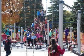 new mcnally park playground dedicated skokie park district