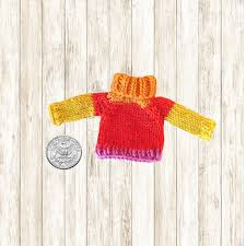 miniature sweater ornament mini by dragonflyknitdesigns on etsy
