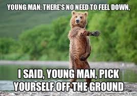 Feeling Down Meme - bear