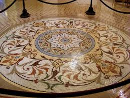 floor design elegant light brown flower mosaic ceramic tile floor