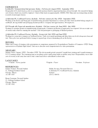 Sample Resume For Teenager Resume Template For College Student College Student Resume No