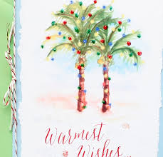 wish someone warmest wishes with our tropical beach christmas card
