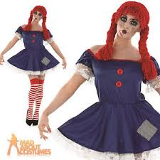 Rag Doll Halloween Costume Scary Rag Doll Costume Ladies Halloween Broken Dolly Fancy