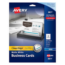amazon com avery two side printable clean edge business cards