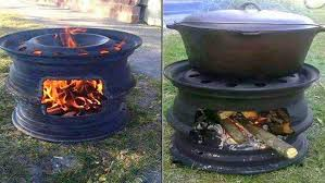 Bbq Firepit Recycled Tire Bbq And Pit Ideas2live4