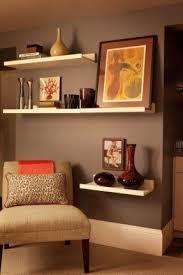 Staggered Bookshelves by Wall Shelves For Living Room Foter