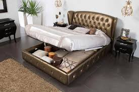 amazing tufted leather headboard king bronze leather bed with lift