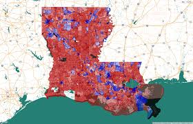 Louisiana Parish Map With Cities by How Red Or Blue Is Your Neighborhood Find Out From Our
