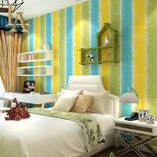 Wallpaper Home Decor Modern Pink Purple Green Graffiti Coloured Striped Wallpaper Bedroom
