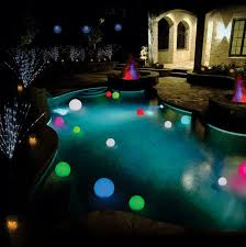 Ball Solar Lights - solar power changing color led floating light ball inground pool