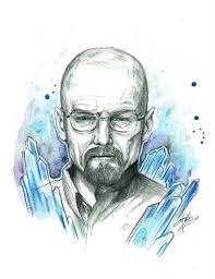 walter white breaking bad drugs blue heisenberg drawing painting