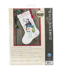 dimensions jolly trio stocking counted cross stitch kit joann