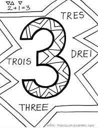 coloring pages for kids number three