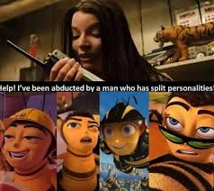 Multiple Picture Meme - bee movie edit multiple personalities captor know your meme
