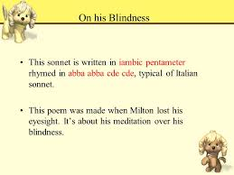 On His Blindness Questions And Answers John Milton Key Points And Difficulties 重点和难点