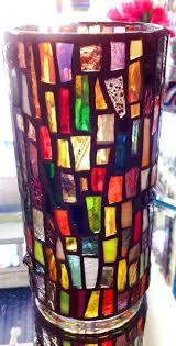 Stained Glass Vase 114 Best Mosaic Vases U0026 Votives Images On Pinterest Mosaic Vase