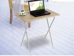 Laptop Writing Desk 75 50cm Wood Laptop Table Portable Writing Desk Folding Notebook