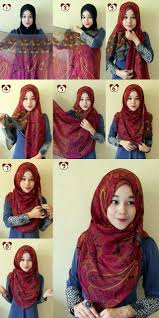 gambar tutorial shawl terkini 137 best ohsopretty hijab images on pinterest paisley shawl and