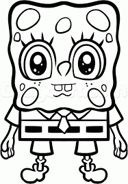 how to draw anime spongebob step by step nickelodeon characters