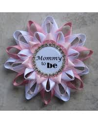 baby shower ribbons big deal on baby shower corsages to be pin to be