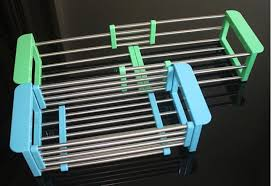 Kitchen Drying Rack For Sink by Stainless Steel Adjustable Telescopic Kitchen Over Sink Dish