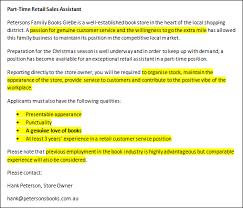 application letter writing for job