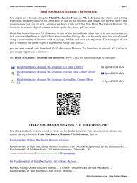 fluid mechanics munson 7th solutions flu e books computer file