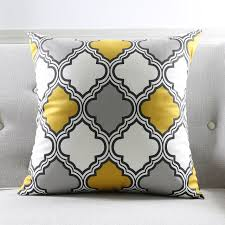 line Shop Modern Grey Geometric Cushion Cover Zebra Aztec