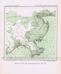 Map Of The Mississippi River Antique Maps And Charts U2013 Original Vintage Rare Historical