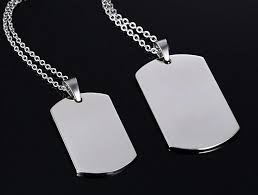 Personalized Dog Tag Necklace Custom Dog Tag Necklace Double Sided U2013 Grandeur Accessories