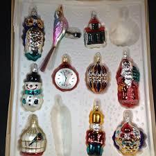 details about vintage kurt adler lot of 10 glass novelty ornaments