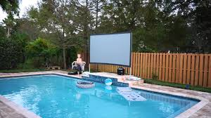 Backyard Theater Ideas Backyard Theater System Image On Stunning Outdoor Projector Screen