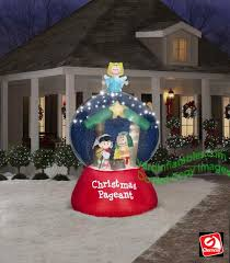 peanuts airblown inflatables gemmy airblown peanuts nativity pageant led globe with