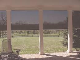 Exterior Shades For Patio Block The Sun From The Outside With Exterior Solar Screen Shades