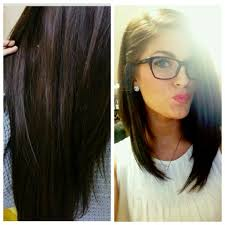 long bobs with dark hair dark brown and plum color with a long angled bob hair styles and