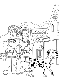 fireman sam free coloring pages on art coloring pages