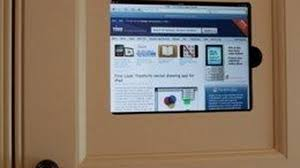 How To Install Kitchen Cabinets Video by Ipad Gets Custom Install In The Kitchen Cabinet Video
