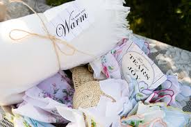 Keepsake Items Guests Were Welcomed With Keepsake Items Of Cozy White Blankets