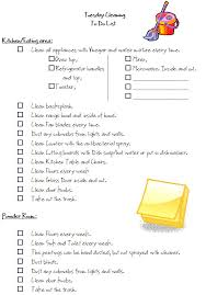 Clean Bedroom Checklist Free Monday Thru Friday Cleaning Checklists Tuesday