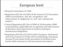 Council Regulation Ec No 44 2001 Brussels European Model S Of Protective Measures In Cross Border