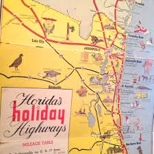 Map Of Florida Turnpike by Flashback Friday Tourist Map Of Florida From 1950 The Florida