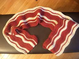 knitting pattern bacon scarf off the hook bacon scarf bacon scarves and crochet